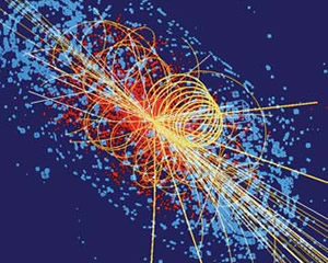 atomic particle collision tracks